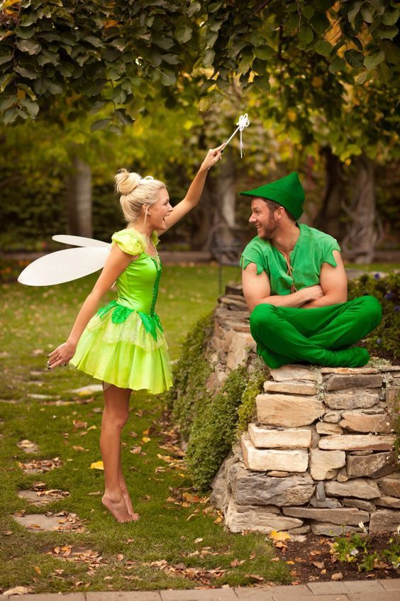 Peter Pan and Tinkerbell Couples Costume.
