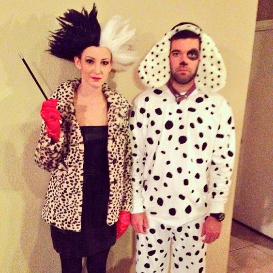 Cruella de Vil and Spot From 101 Dalmatians .