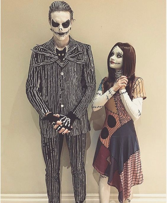 Jack and Sally Couples Costume .