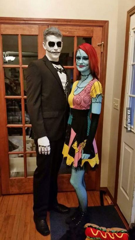Jack and Sally Couples Costume  sc 1 st  Hative : cheap easy couples costumes  - Germanpascual.Com