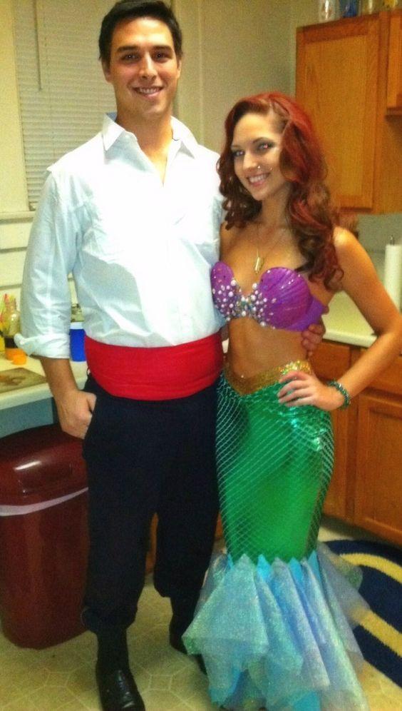 60 cool couple costume ideas hative rince eric and mermaid costume solutioingenieria Choice Image