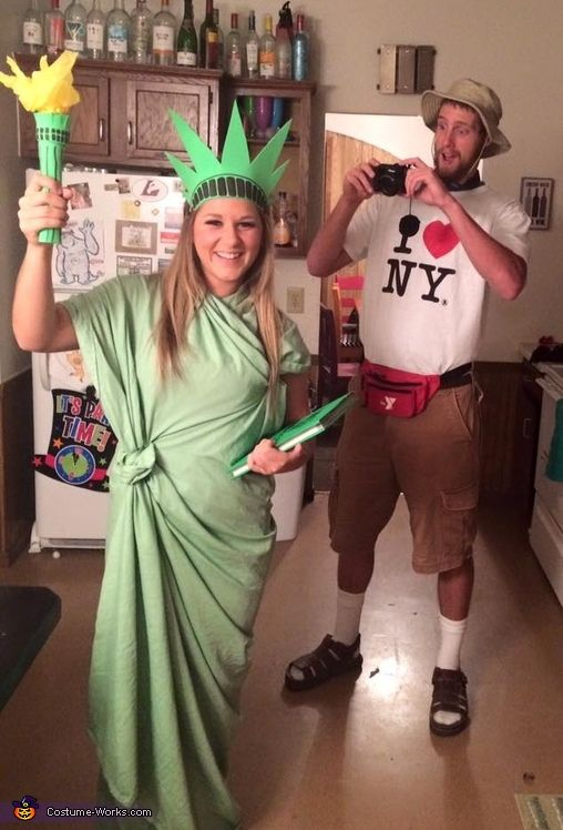 NYC Tourist and Statue of Liberty Costume.