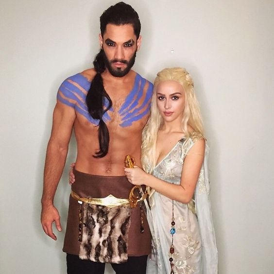 Khaleesi and Khal Drogo inspired Halloween Costume.