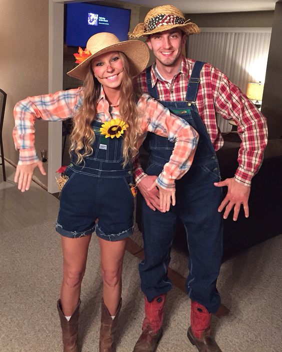 60 cool couple costume ideas hative scarecrow couple halloween costume solutioingenieria Choice Image