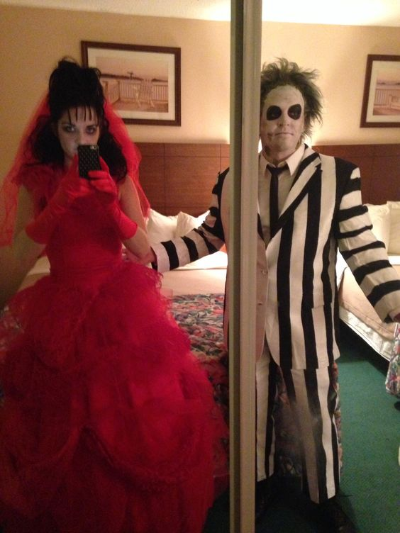 Lydia Deetz and Beetlejuice Costumes .