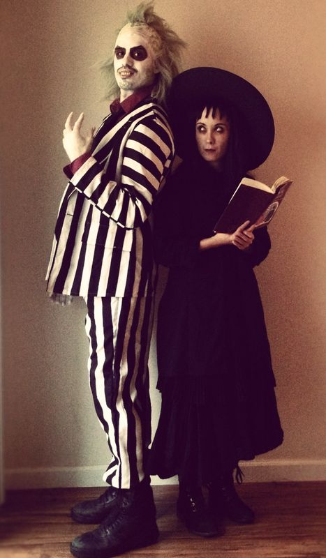 Lydia Deetz and Beetlejuice Costumes  sc 1 st  Hative & 60+ Cool Couple Costume Ideas - Hative