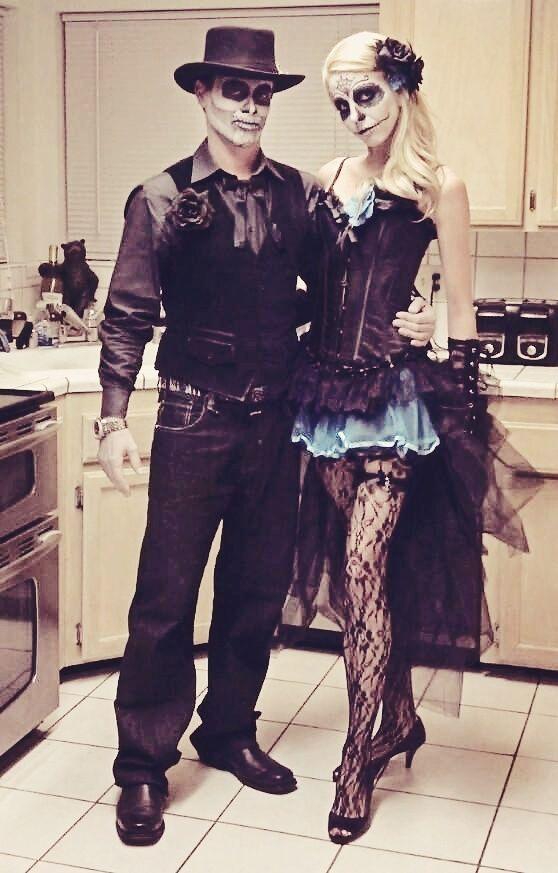 dia de los muertos couple - Mens Couple Halloween Costumes