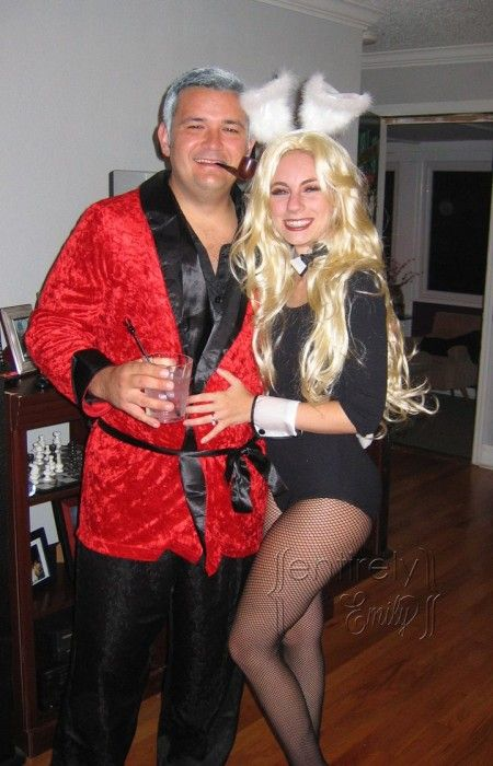 Hugh Hefner and Playboy Bunny Costumes.