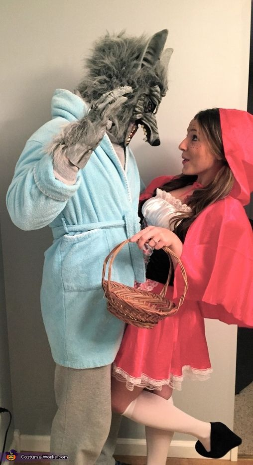 Little Red Riding Hood u0026 the Big Bad Wolf Costume  sc 1 st  Hative & 60+ Cool Couple Costume Ideas - Hative