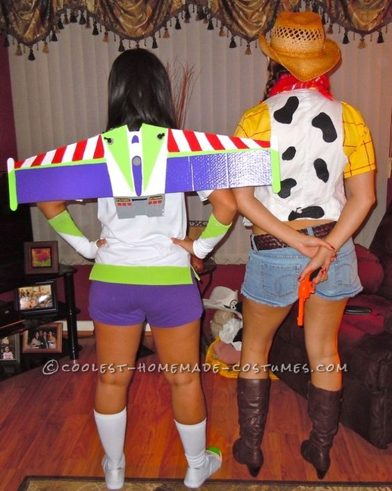 Buzz Lightyear and Woody Couple's Halloween Costume.