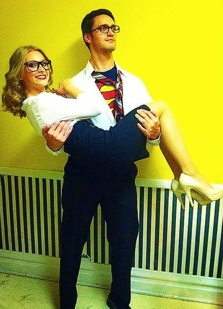 Clark Kent and Lois Lane Couple Costumes from Superman.