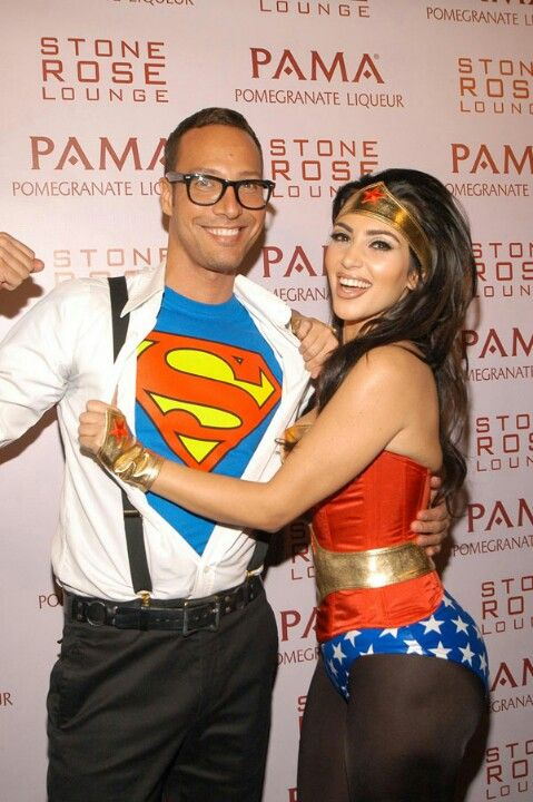 Wonder women and Clark Kent.