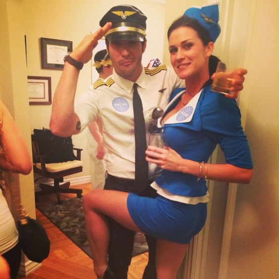 Pilot and Flight Attendant.