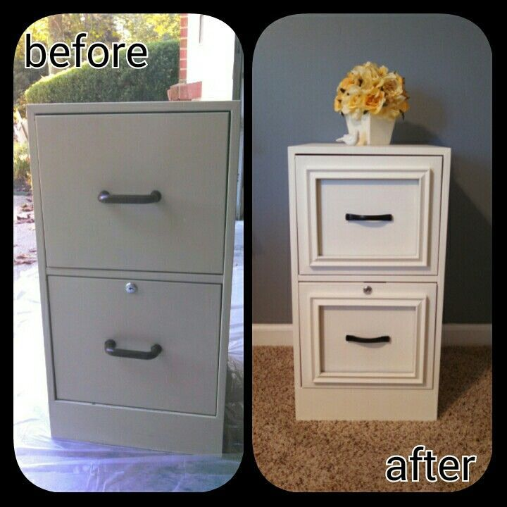DIY Expensive Looking Night Stand from a Filing Cabinet .