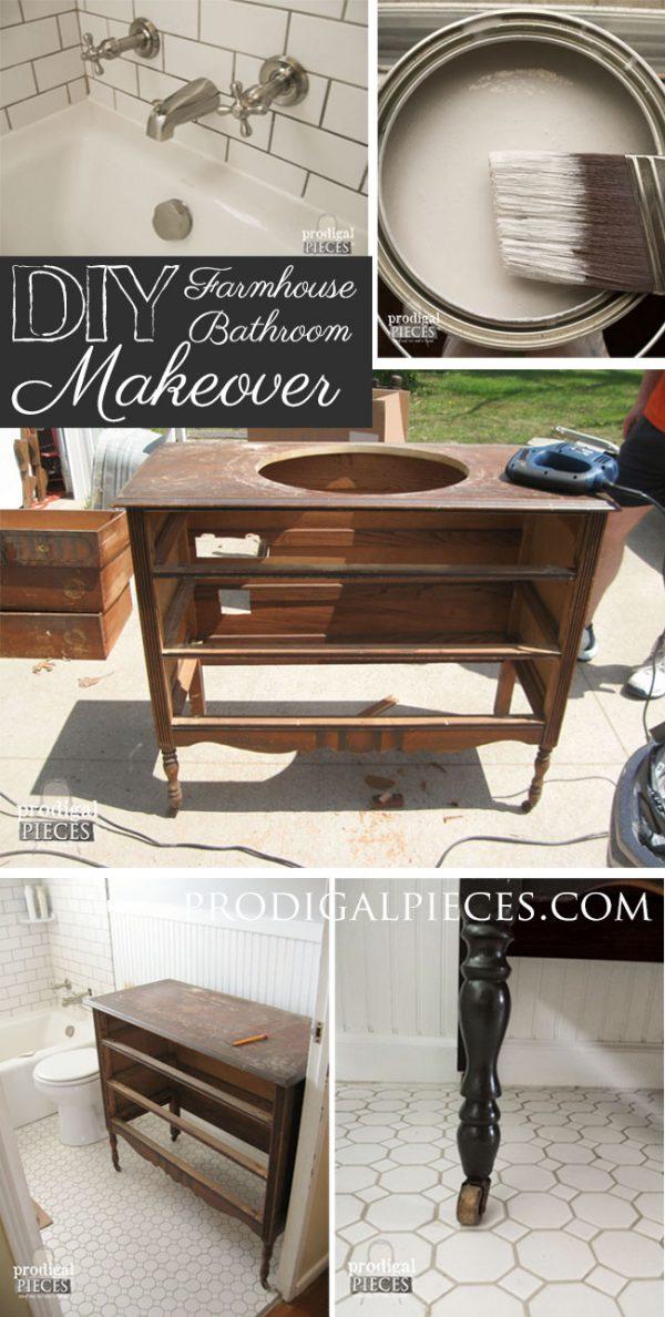 Farmhouse Vanity from an Hobby Dresser.
