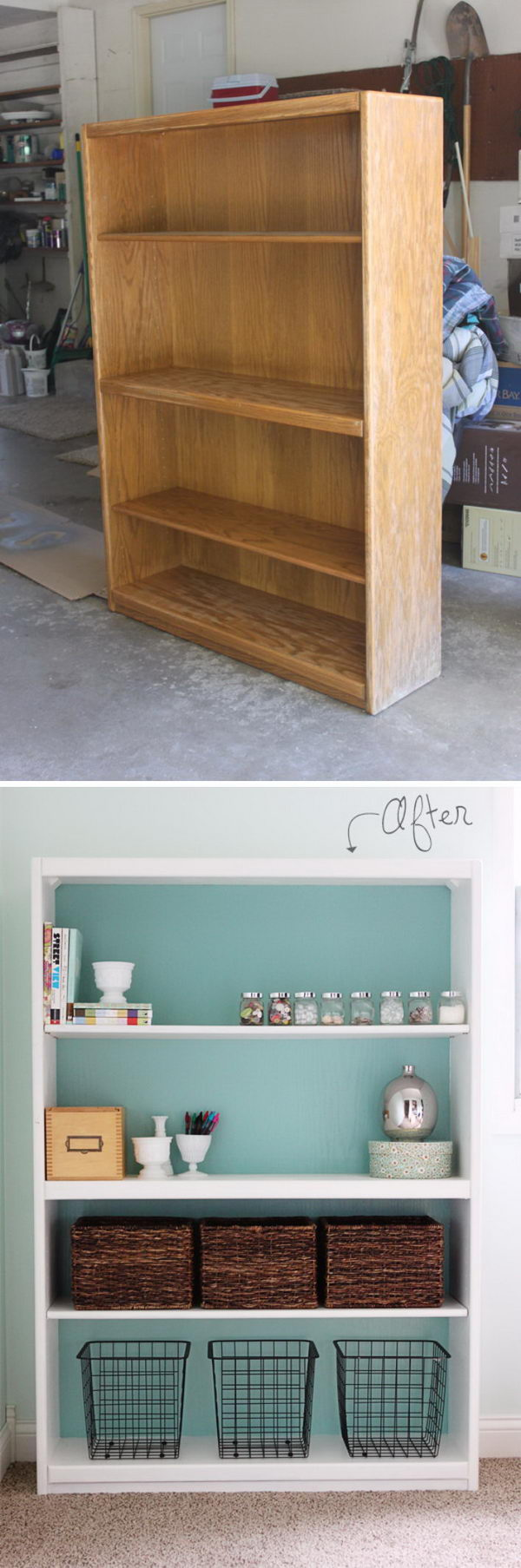 old furniture makeover. Bookcase Makeover With Before And After Old Furniture R