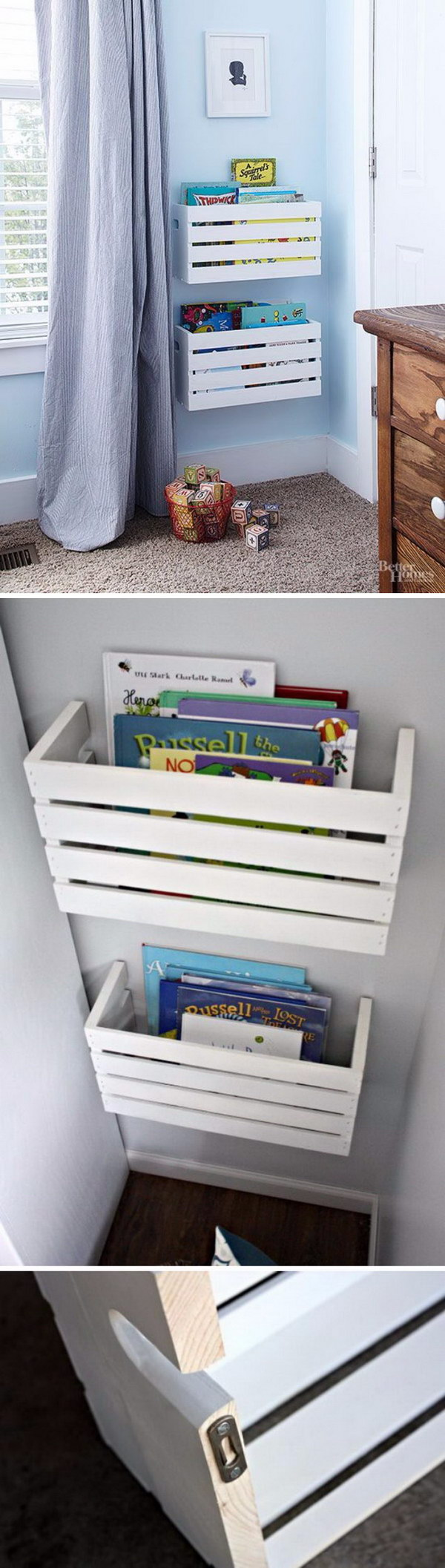 Make Great Crate Book Storage For Unused Wall Space