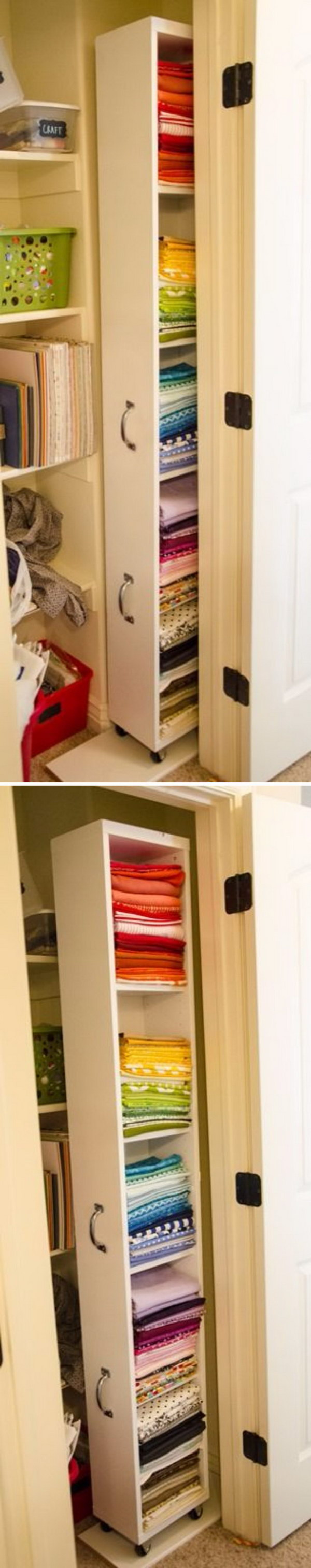 Create More Space To Your Closet With This IKEA Billy Hack Rolling Closet  Organizer
