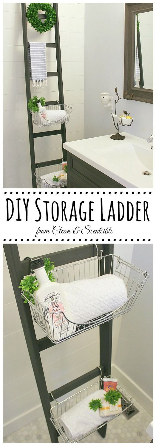 DIY Ladders Are A Great Way To Add Some Extra Storage In A Tiny Space