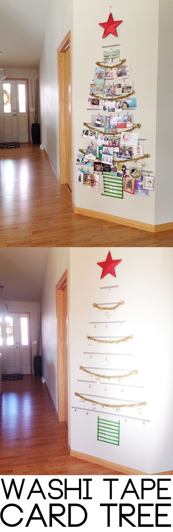 Make a Washi Tape Tree: A Festive Way to Organize All of Your Holiday Cards.