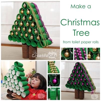 Toilet Paper Christmas Tree For Kids.