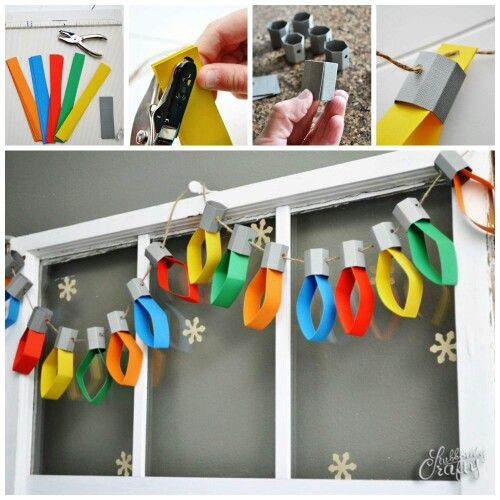 Paper Christmas Lights Garland.
