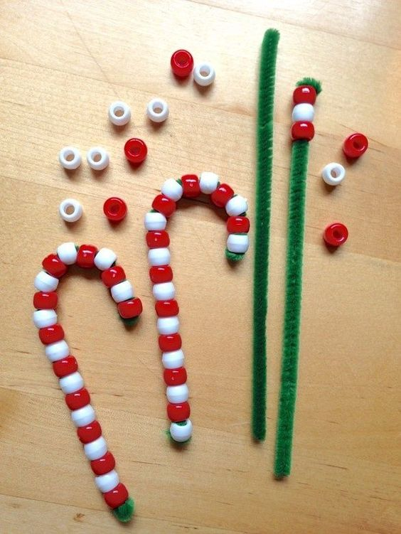 Beaded Candy Cane Ornaments.