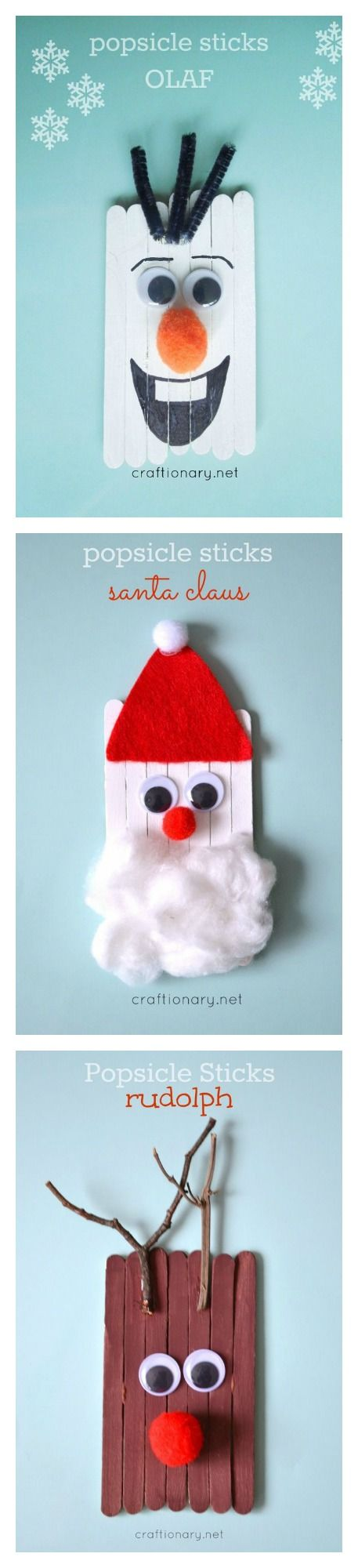 Popsicle Stick Kids Craft.
