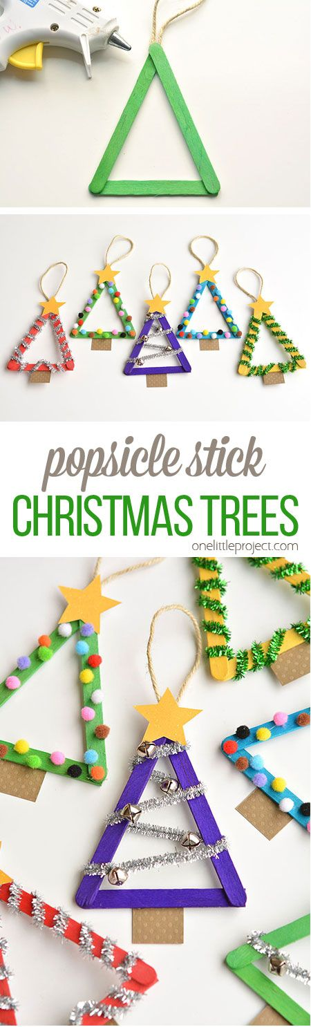 Popsicle Stick Christmas Trees.