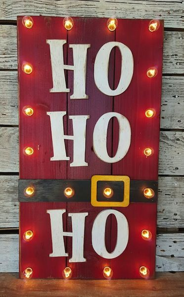 Ho Ho Ho Wood Sign.