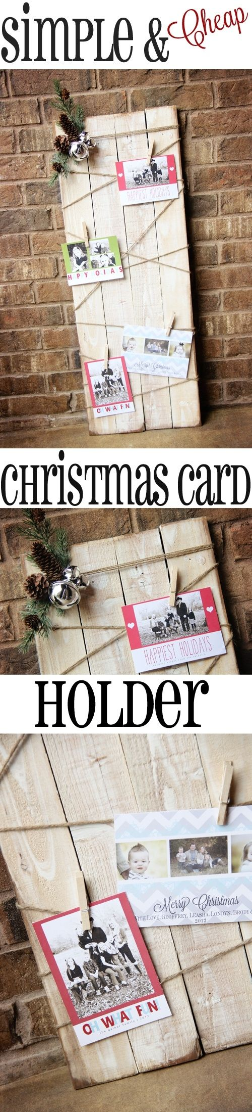 diy wood pallet christmas card display