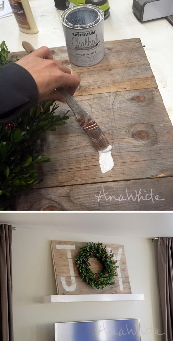 DIY Pallet Joy Christmas Sign.