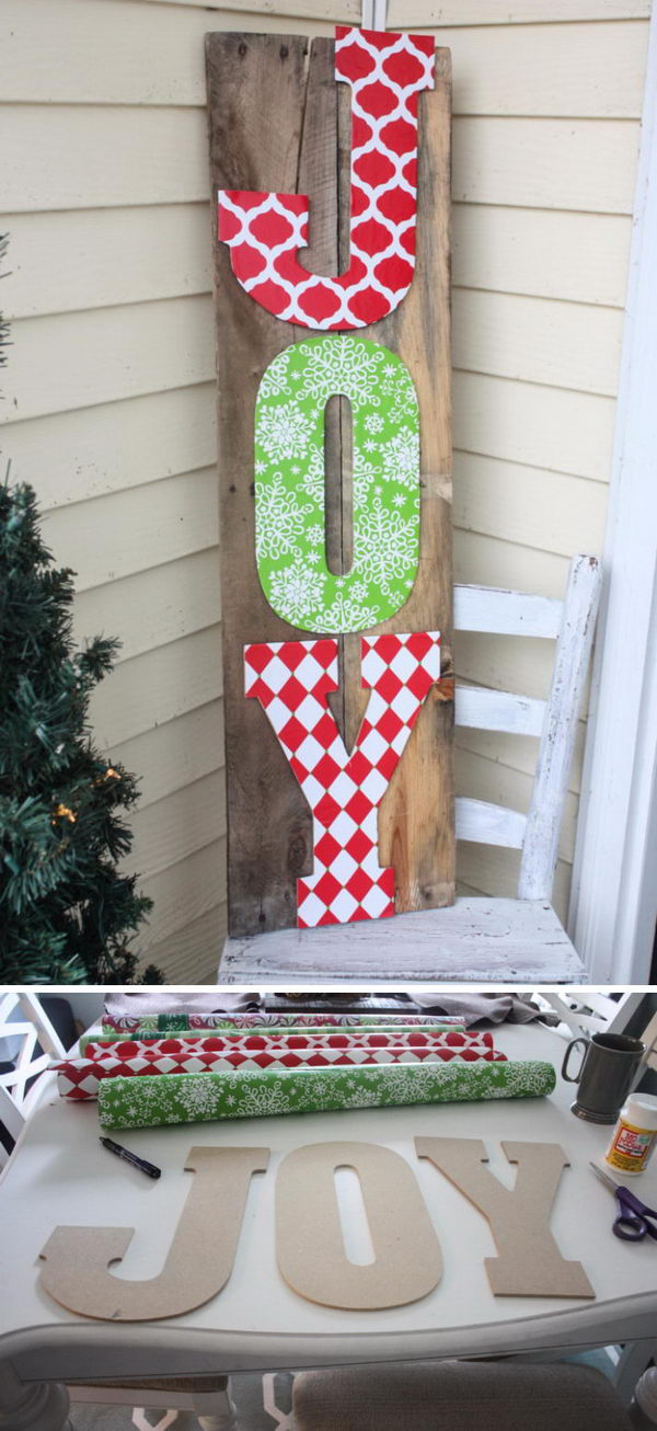 DIY Joy Pallet Sign.