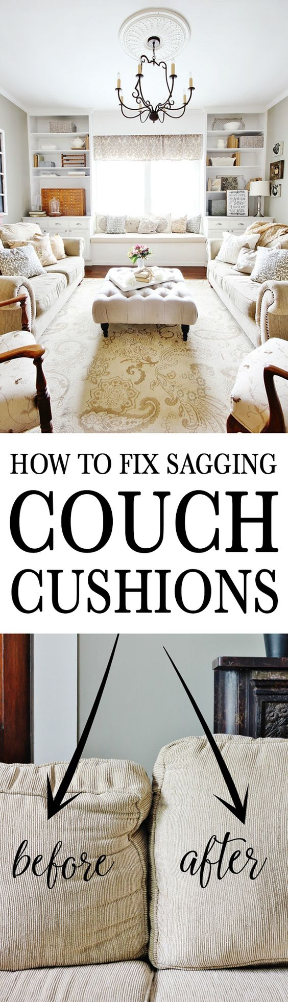 How to Fix Sagging Couch Cushions.