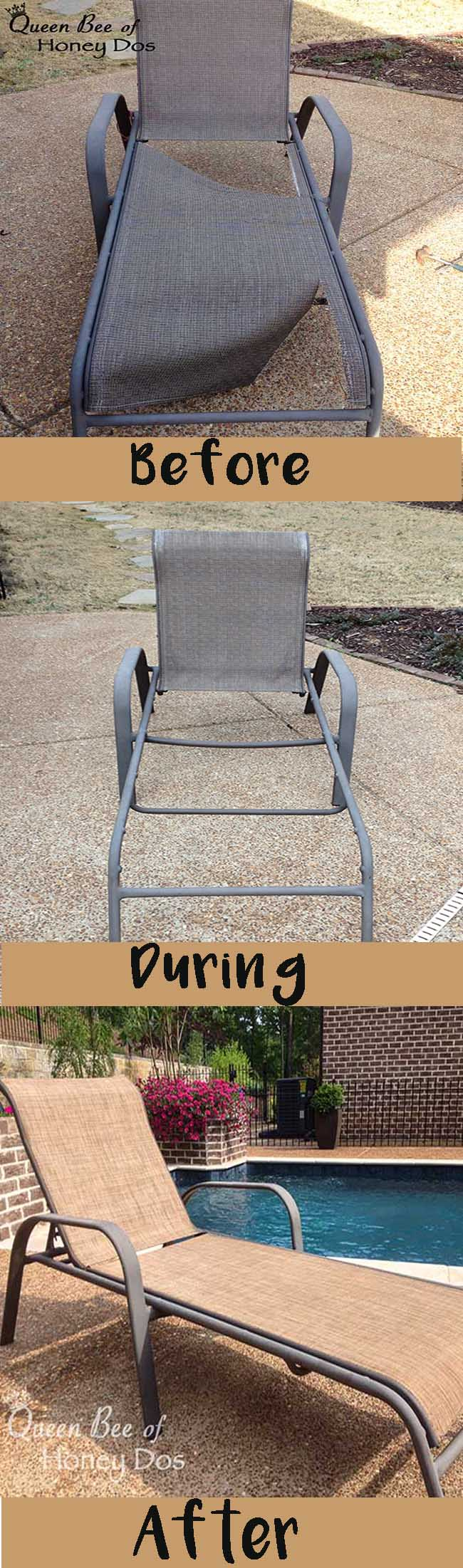 How to Repair Sling Chairs and Chaises.