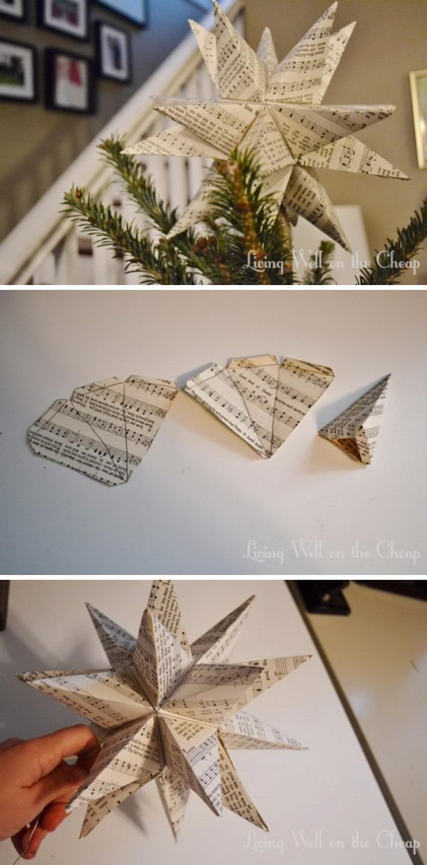 DIY Moravian Star Tree Topper.