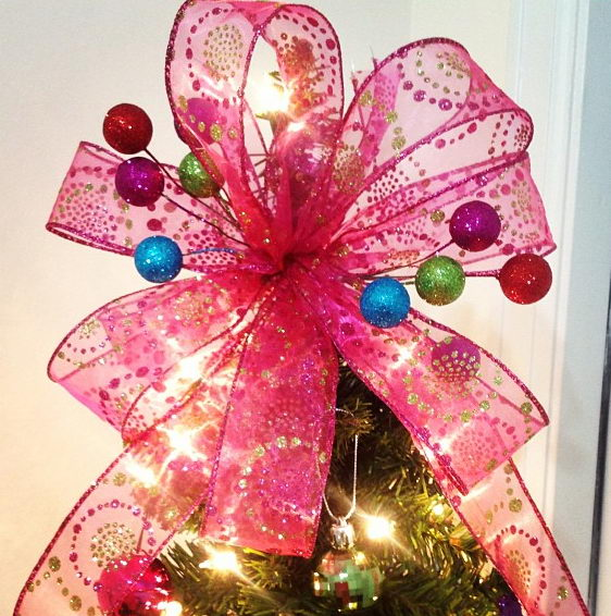 Christmas Tree Bow Topper.