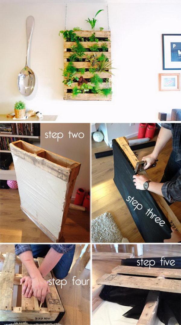 DIY Pallet Wall Planter.