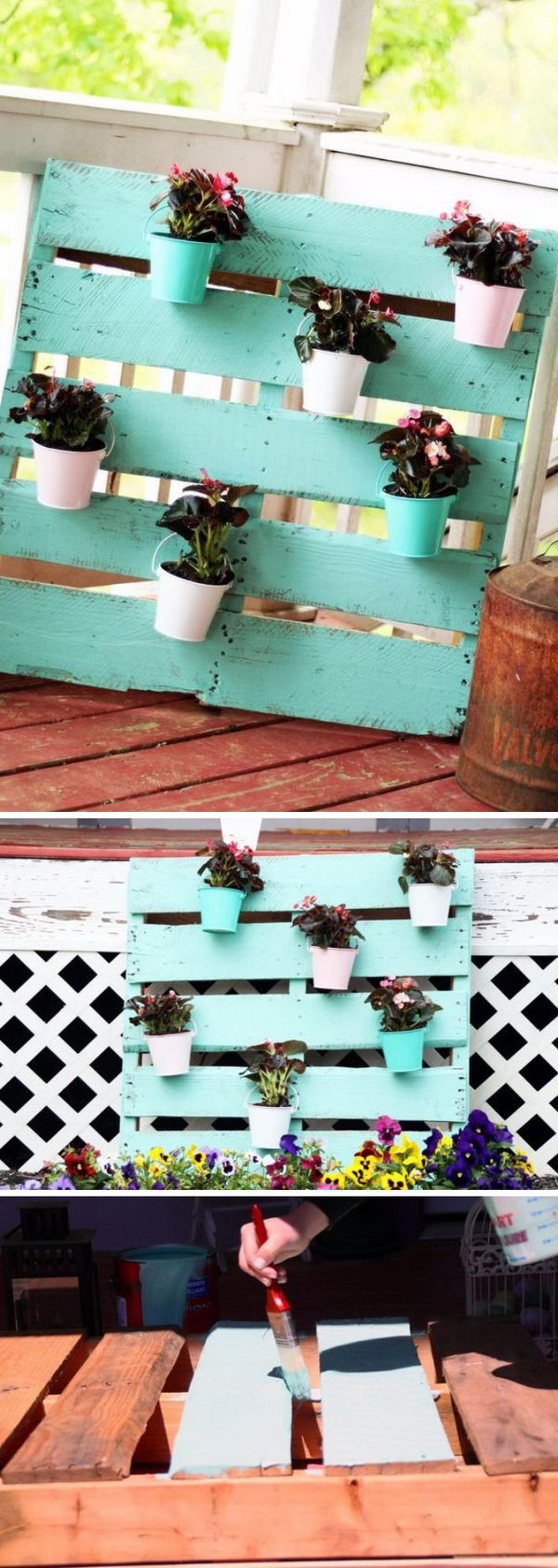 Upcycled Pallet planter.