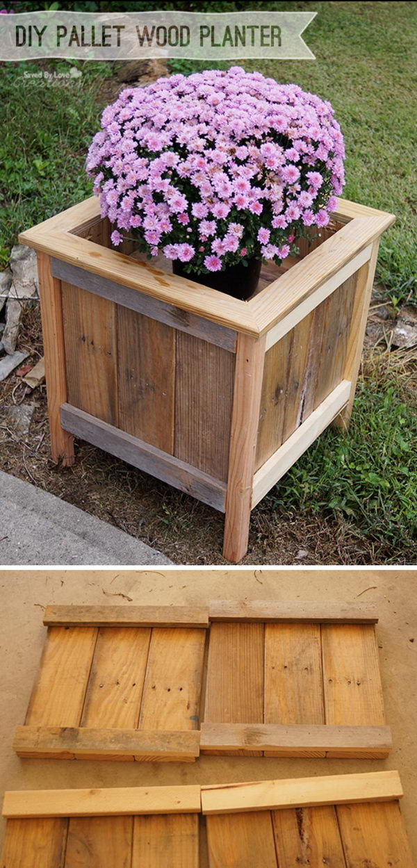 15 diy garden planter ideas using wood pallets hative. Black Bedroom Furniture Sets. Home Design Ideas