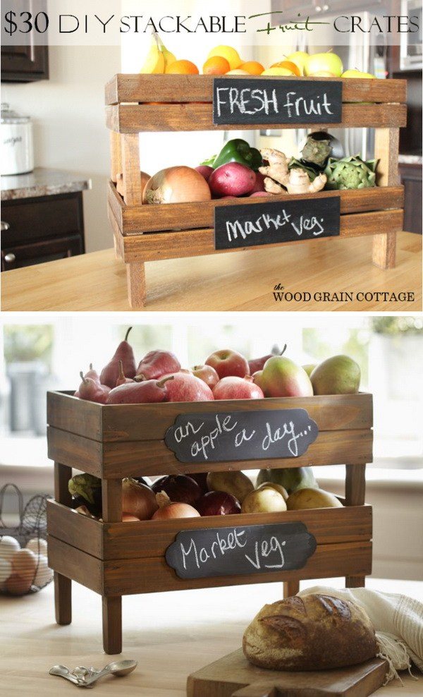 DIY Stackable Fruit Crates.