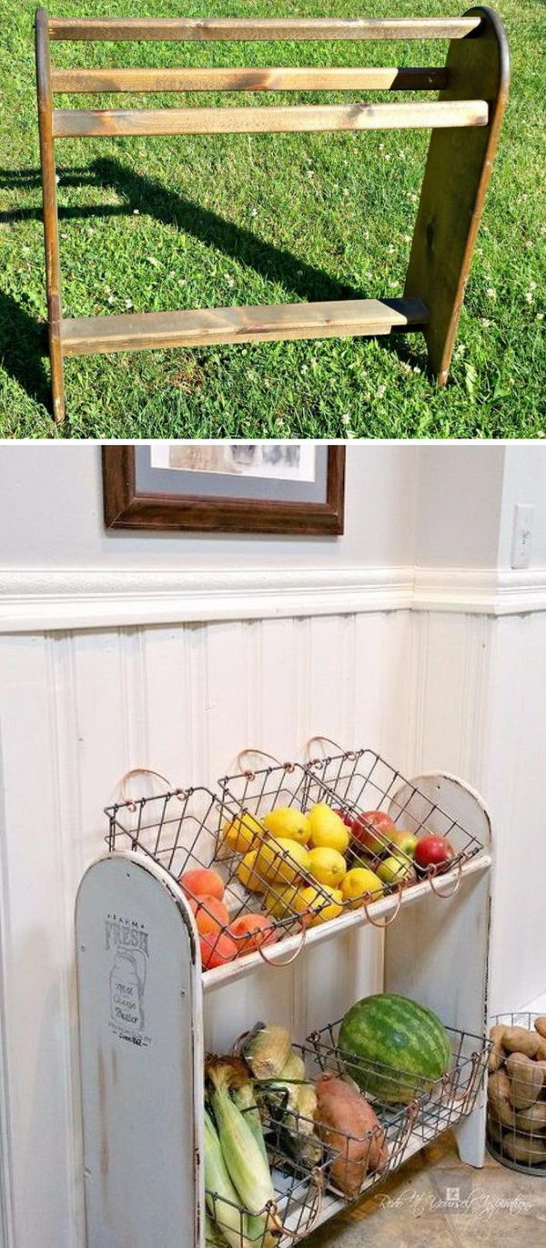 Blanket Rack to Farmhouse Vegetable Stand.