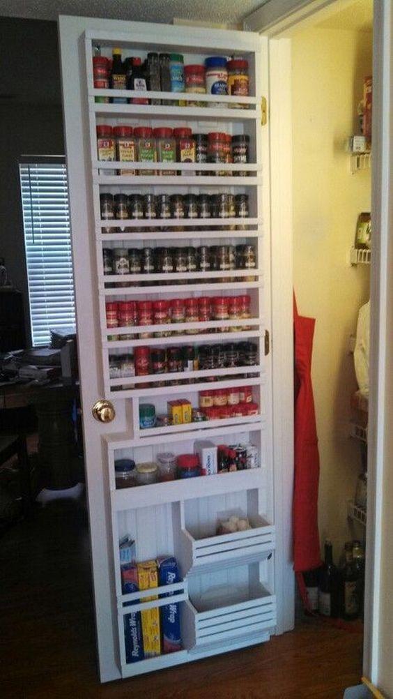 DIY Pantry Door Spice Rack.