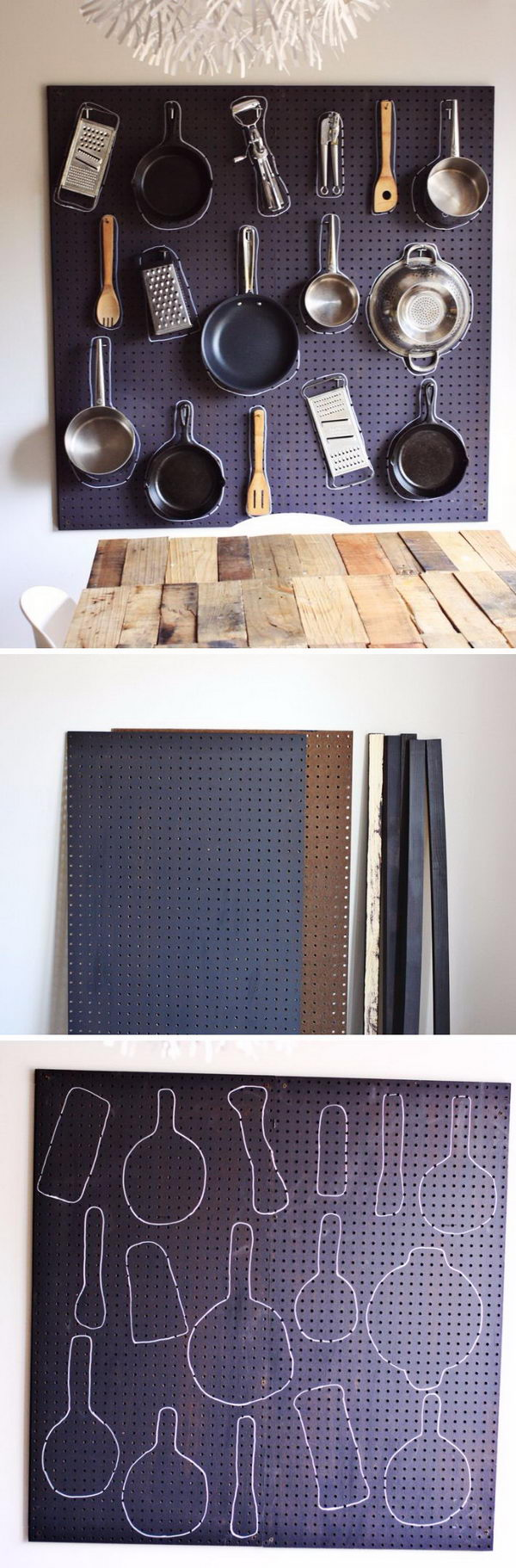 DIY Kitchen Pegboards.