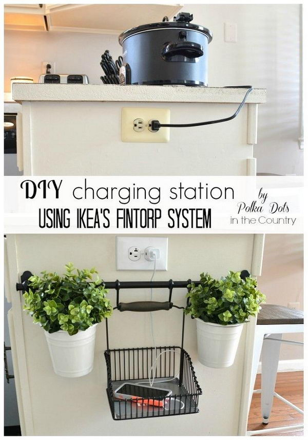 DIY Charging Station Using Ikeau0027s Fintorp System.