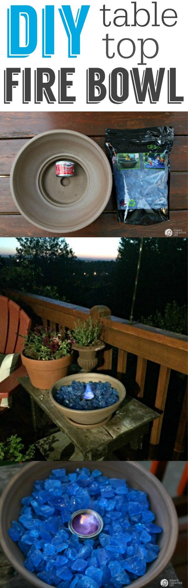 DIY Tabletop Fire Bowl.