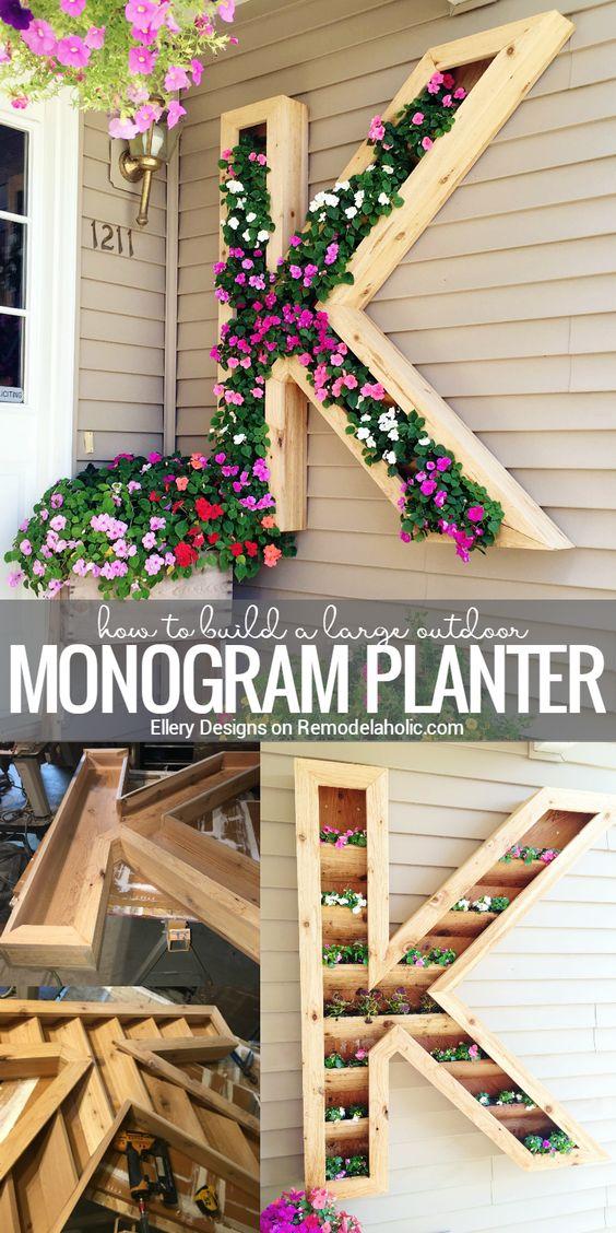 DIY Monogram Planter.