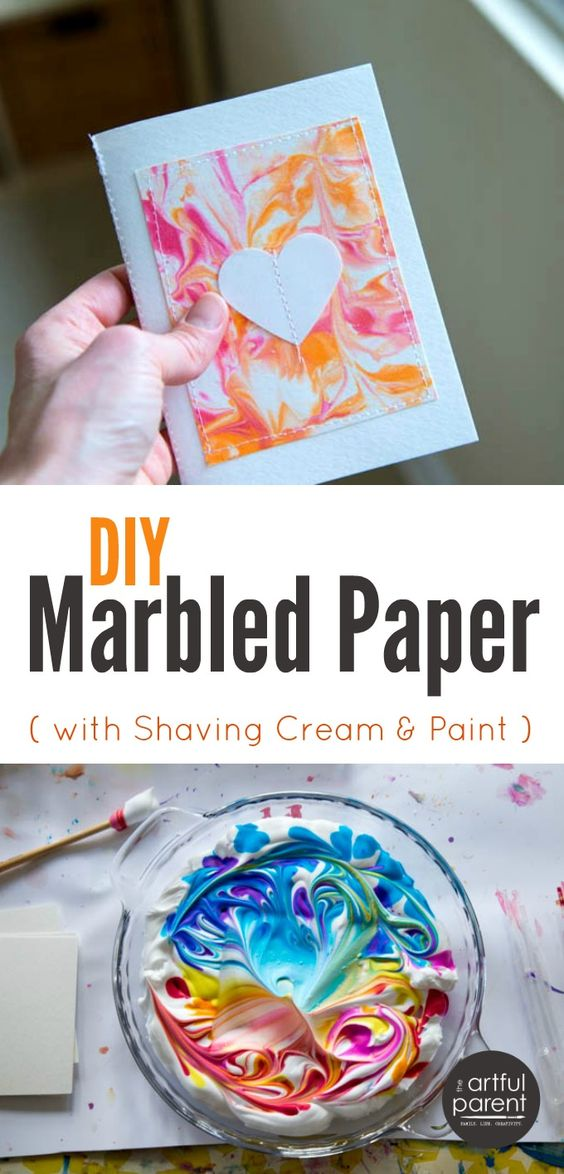 Easy Diy Marbled Paper