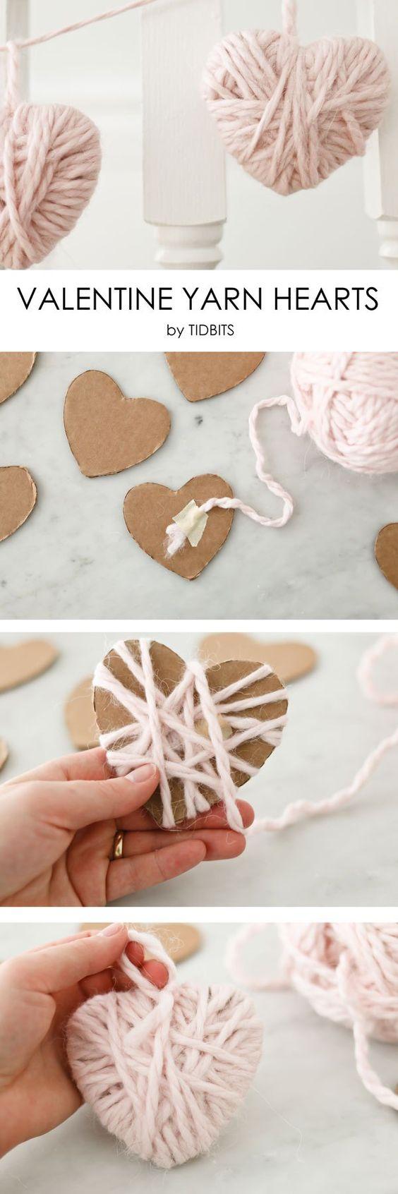 Valentine Yarn Heart.