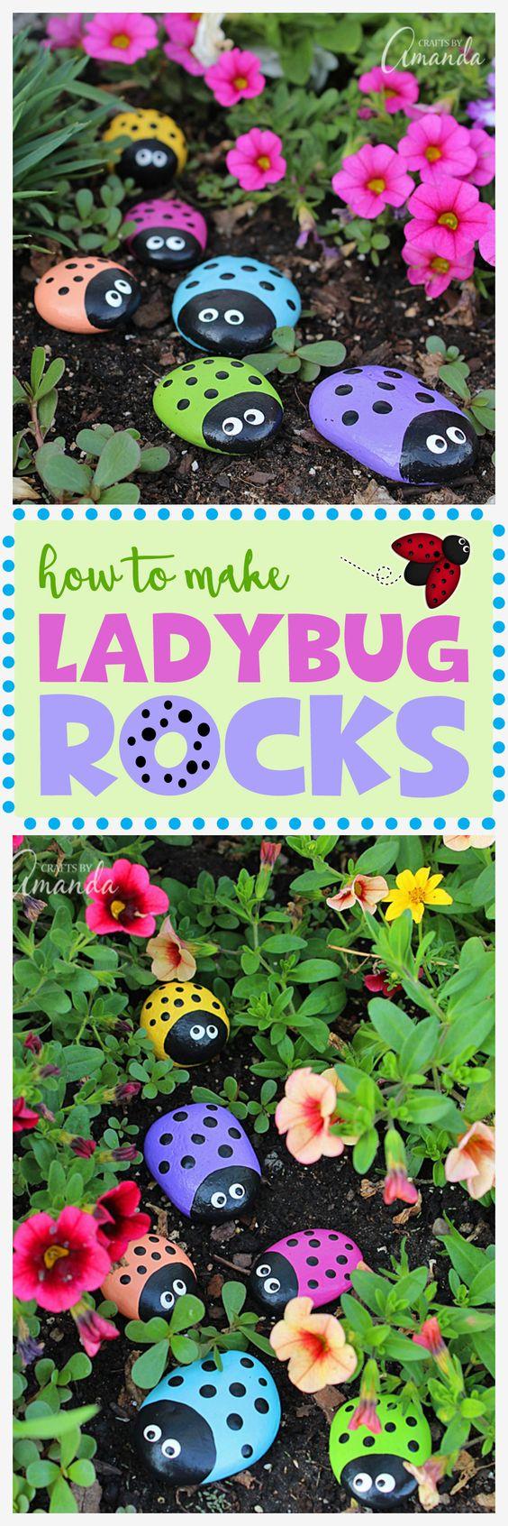 Ladybug Painted Rocks.